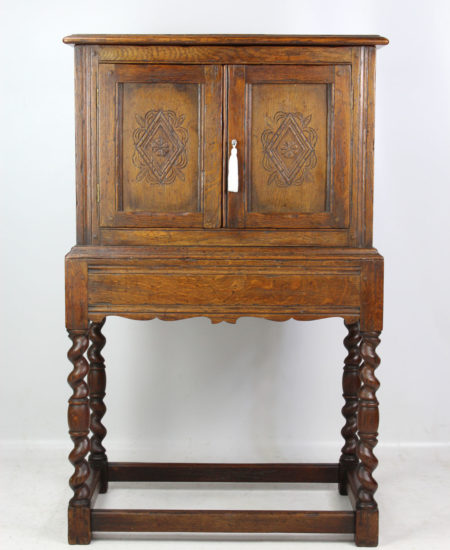 Edwardian Oak Cabinet in 17th Century Style