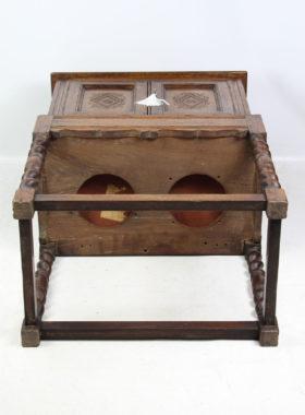 Edwardian Oak Cabinet in 17th Century Style