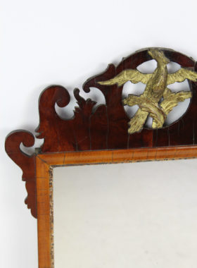 Antique Chippendale Fretwork Mirror