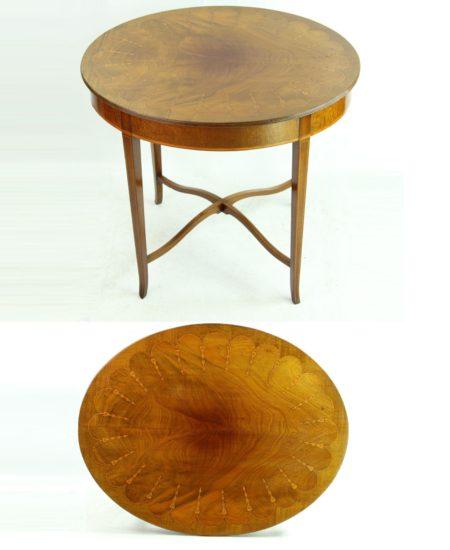 Edwardian Inlaid Mahogany Oval Side Table