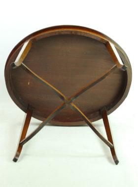 Oval Edwardian Mahogany Inlaid Table