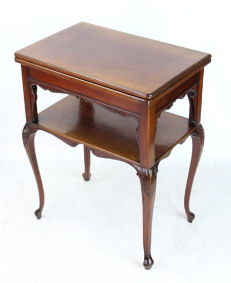 Victorian Mahogany Fold Over Card Table