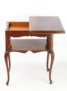 Victorian Mahogany Fold Over Card Table