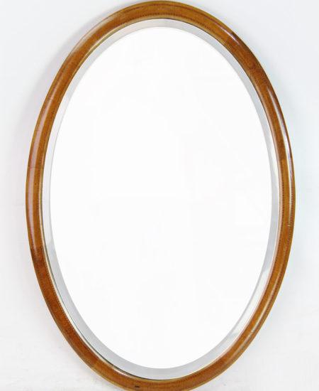 Edwardian Mahogany Inlaid Oval Mirror