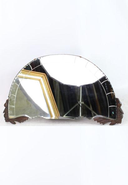 Art Deco Frameless Overmantle Mirror