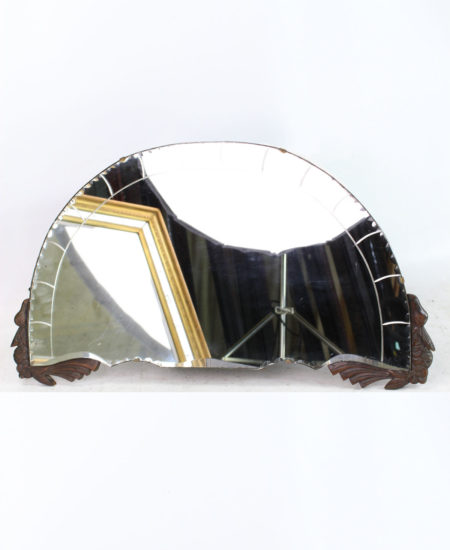 Art Deco Frameless Overmantle Mirror