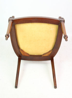 Edwardian Inlaid Mahogany Open Armchair