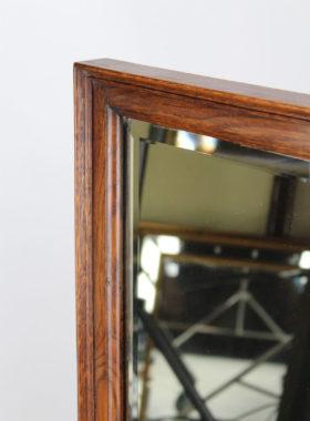 Edwardian Oak Shop Fitting Mirror