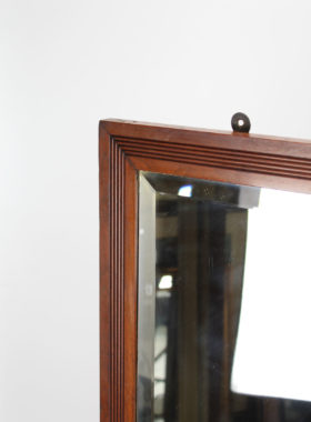 Victorian Mahogany Shop Fitting Mirror