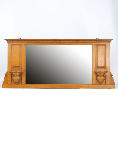 Victorian Oak Overmantle Mirror