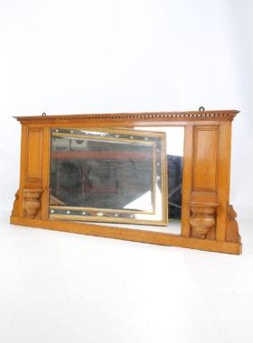 Victorian Oak Overmantle Mirror