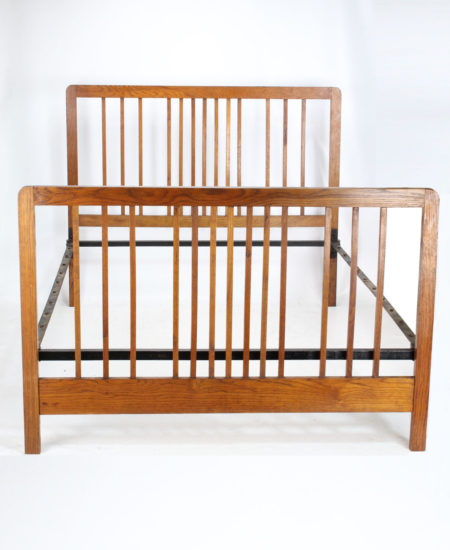 Edwardian Oak Double Bed