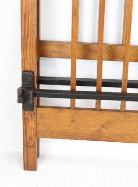 Edwardian Oak Double Bed