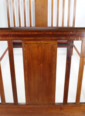Edwardian Inlaid Mahogany Double Bed