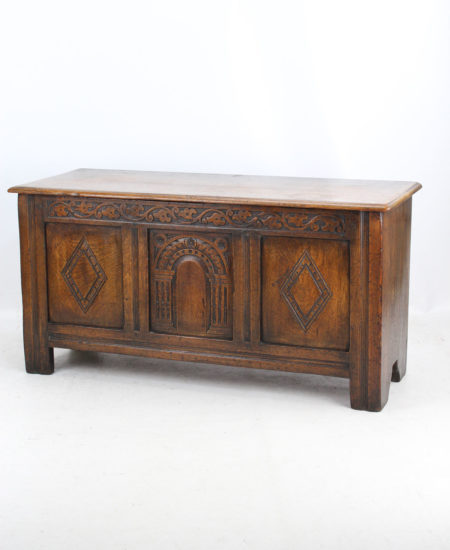 Small Edwardian Oak Coffer