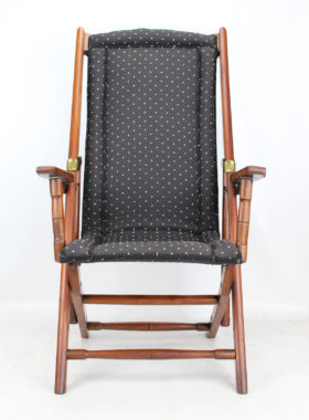 Antique Folding Steamer Campaign Chair
