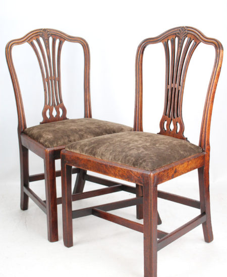 Pair Georgian Mahogany Side Chairs