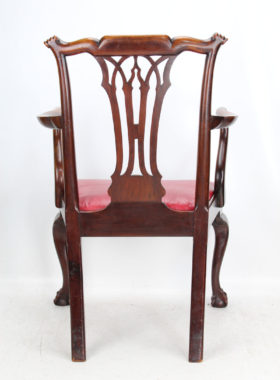 Edwardian Chippendale Desk Chair