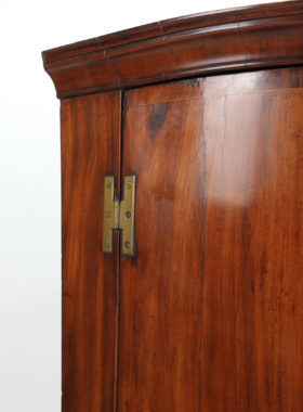 Georgian Bow Front Corner Cupboard