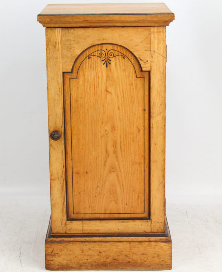 Victorian Ash Beside Cabinet