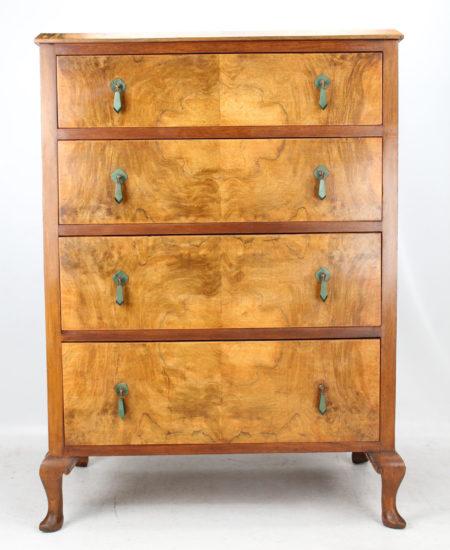 Art Deco Walnut Chest Drawers