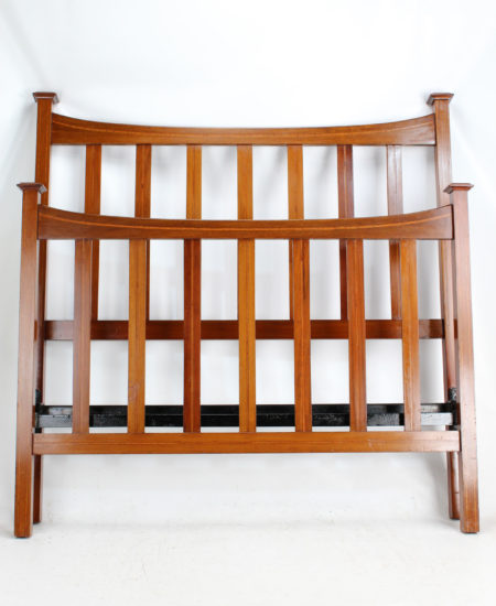 Edwardian Arts Crafts Mahogany Double Bed