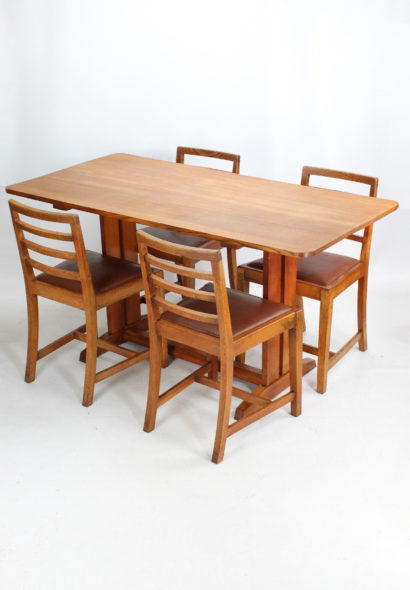 Heals Style Oak Dining Table and Chairs