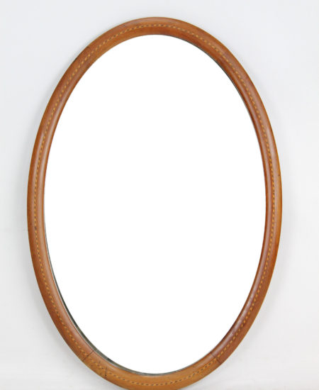 Edwardian Oval Mahogany Inlaid Mirror