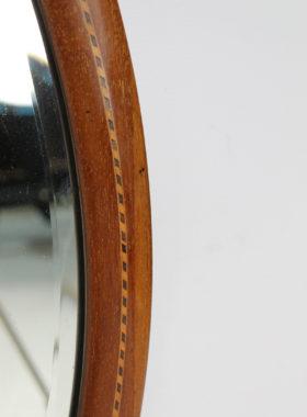 Edwardian Oval Mahogany Inlaid Mirror