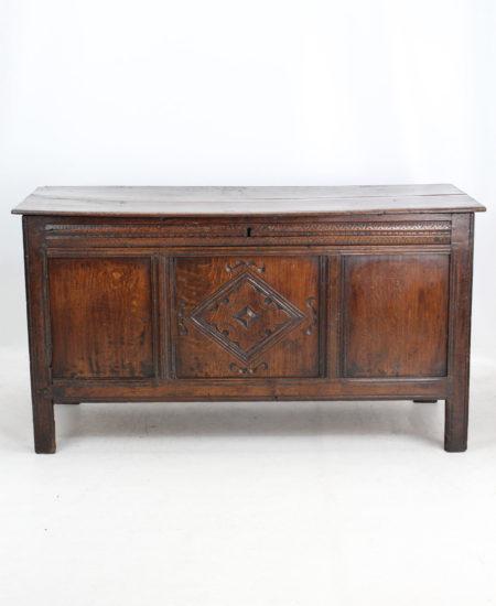 17th Century Carved Oak Coffer