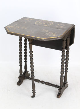 Small Victorian Chinoiserie Drop Leaf Table