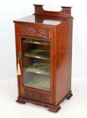 Arts Crafts Walnut Music Cabinet