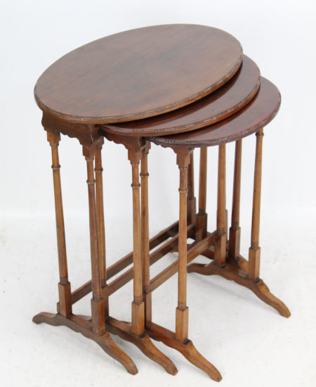 Nest 3 Mahogany Tables Manner of Gillows