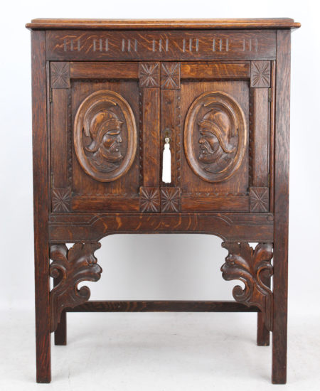 Victorian Carved Oak Cabinet