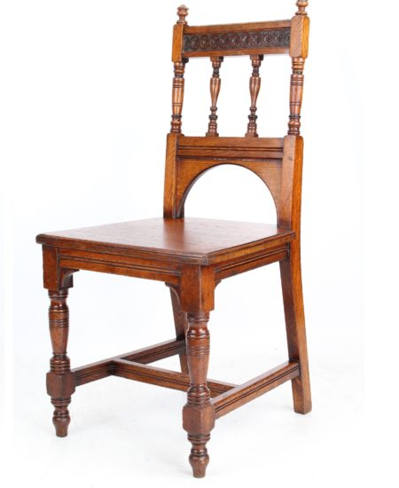 Late Victorian Oak Hall Chair