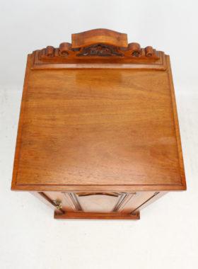 Victorian Walnut Bedside Cabinet