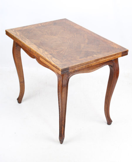 French Oak Parquetry Top Dining Table