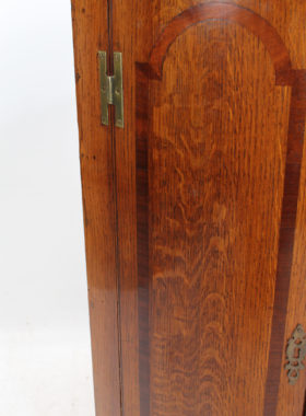 Georgian Oak Bow Front Corner Cupboard