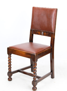 Set 4 1920s Oak Dining Chairs