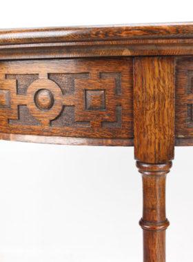1920s Oak Demi-Lune Hall Table