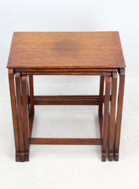 Art Deco Oak Nest Tables