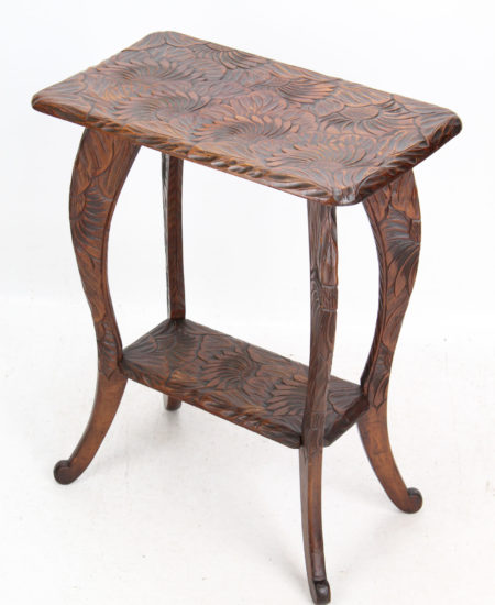 Arts and Crafts Carved Side Table