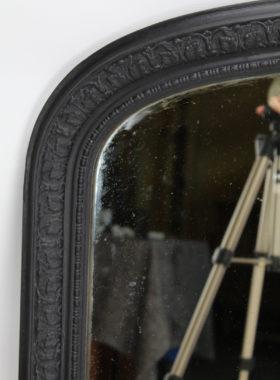 Large Ebonised Victorian Overmantle Mirror