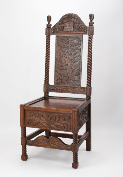 Victorian Carved Oak Chair