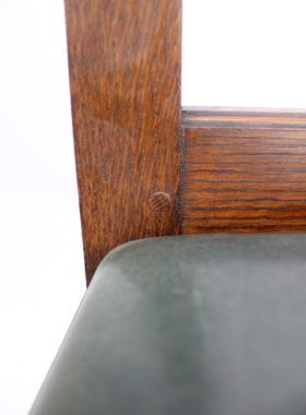 Set 4 Edwardian Oak Dining Chairs