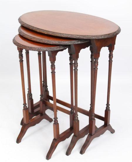 Victorian Mahogany Nest 3 Tables
