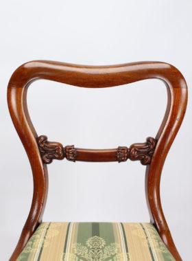 Set 5 Victorian Mahogany balloon Back Chairs