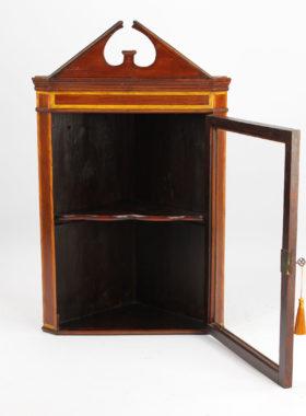 Small Victorian Mahogany Corner Cabinet
