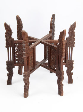 Indian Brass Top Coffee Table