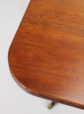 Regency Mahogany Drop Leaf Dining Table
